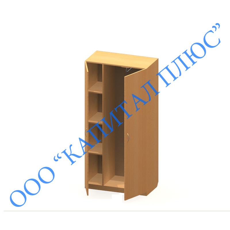 К-7-2 шкаф 2-х ств. платяной с полками.